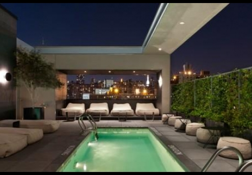 Hotels with rooftop pools for Hotel americano pool