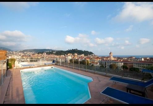 Located On The 7th Floor Of 4 Star Hotel Aston La Scala Outdoor Pool Offers Panoramic Views Nice Promenade Du Paillon And Mediterranean