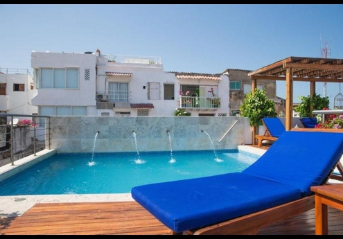 Located On The 4th Floor Of 4 Star Boutique Loft Hotel Casa Claver Rooftop Pool Overlooks Clay Rooftops Old City Cartagena